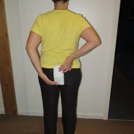 sacral release with washcloth
